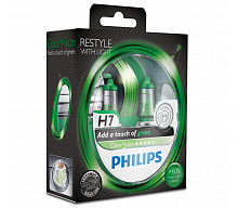 Лампа Philips Color Vision H7 12V- 55W (PX26d) (2 шт.)