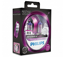Лампа Philips Color Vision H4 12V- 60/55W (P43t) (2шт)